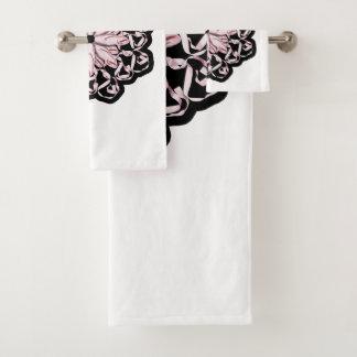 Ballet Pattern Bath Towel Set