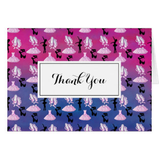 Ballet Pattern Dance Appreciation Thank You Card