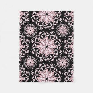 Ballet Pattern (pink) Fleece Blanket