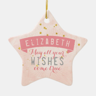 Ballet Pink Baby Wishes Ceramic Ornament