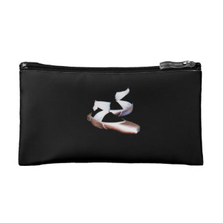Ballet Pointe Shoes Cosmetic Bag (Pink & Black)