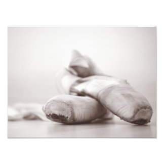 Ballet Pointe Shoes on Dance Floor Template Photo Art