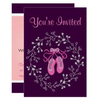 Ballet Princess Party Card