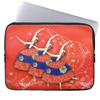 Ballet Printemps Ballerinas Red Laptop Sleeve