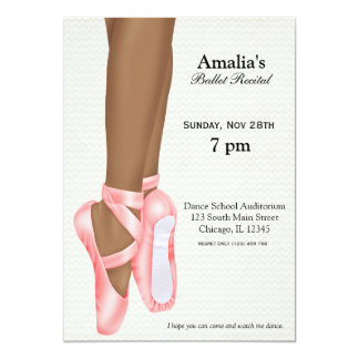 Ballet Recital Card