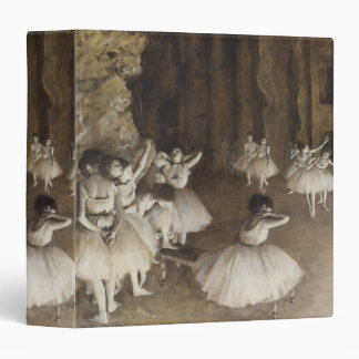 Ballet Rehearsal On Stage by Edgar Degas 3 Ring Binders