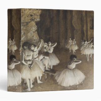 Ballet Rehearsal On Stage by Edgar Degas Binder