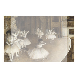 Ballet Rehearsal On Stage by Edgar Degas Custom Flyer