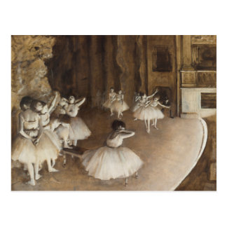 Ballet Rehearsal on Stage | Edgar Degas Postcard