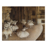 Ballet Rehearsal on Stage | Edgar Degas Poster