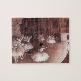 Ballet Rehearsal on the Stage by Edgar Degas Jigsaw Puzzle
