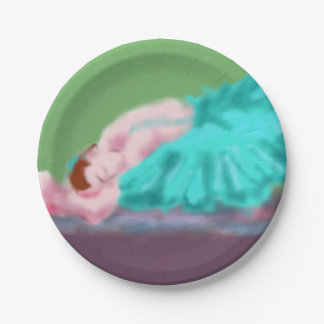 Ballet Resting Art 7 Inch Paper Plate