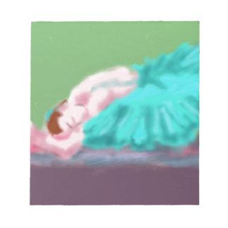 Ballet Resting Art Notepad
