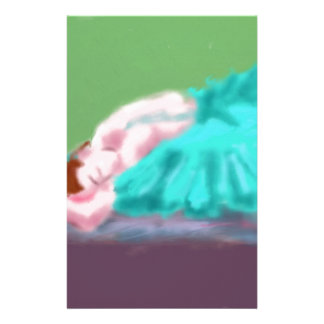 Ballet Resting Art Stationery