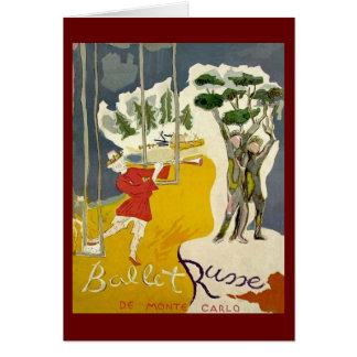 Ballet Russe de Monte Carlo Card