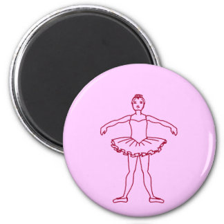Ballet Second Position 2 Inch Round Magnet