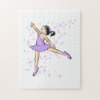 Ballet shoe of Ballet dressed lilac Jigsaw Puzzle