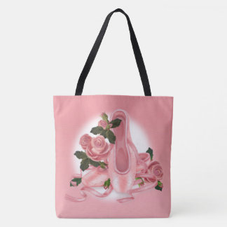 BALLET SHOES DANCE All-Over-Print Tote Bag Large