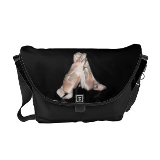 Ballet Shoes Fractal Messenger Bag