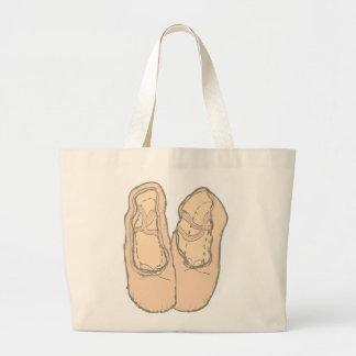Ballet shoes large tote bag