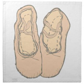 Ballet shoes napkin