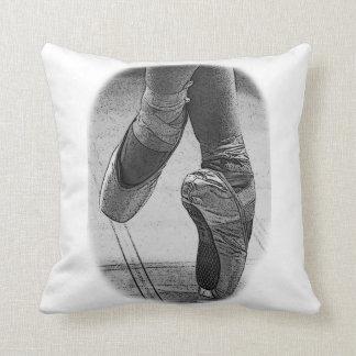 ballet shoes on pointe vintage black_white cushion