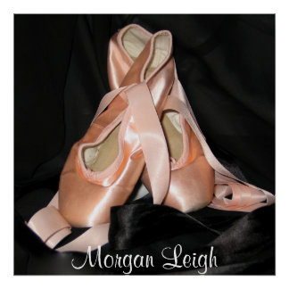 Ballet Shoes Pattern Poster