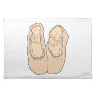 Ballet shoes placemat