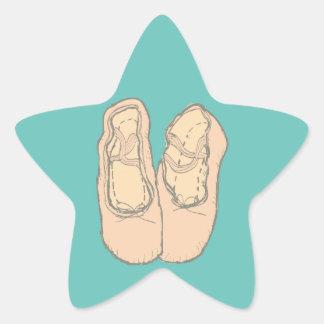Ballet shoes star sticker