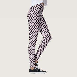 Ballet Slipper and Black Polka Dots Leggings