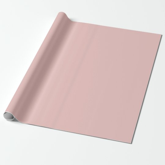 Ballet Slippers Pink Solid Colour Wrapping Paper