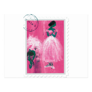 Ballet stamp by Marie L. Postcard