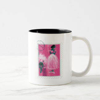 Ballet stamp by Marie L. Two-Tone Coffee Mug