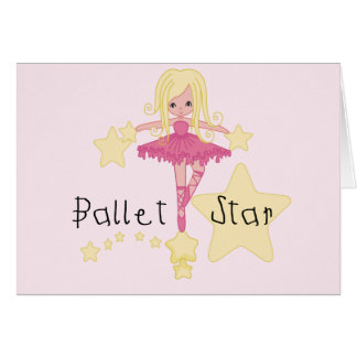 Ballet Star Tshirts and Gifts Card