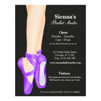 Ballet Studio Full Colour Flyer