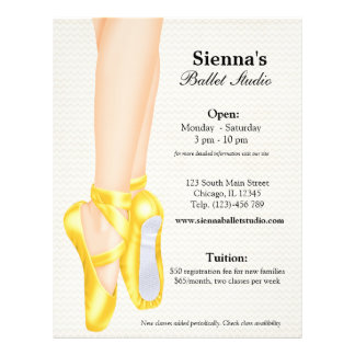 Ballet Studio Personalized Flyer