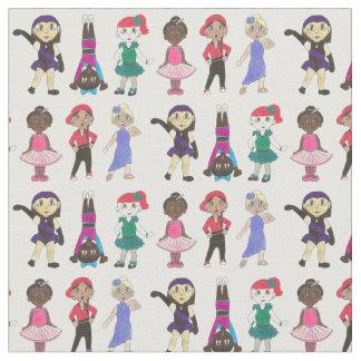 Ballet Tap Jazz Acro Dancer Girls Ballerina Studio Fabric