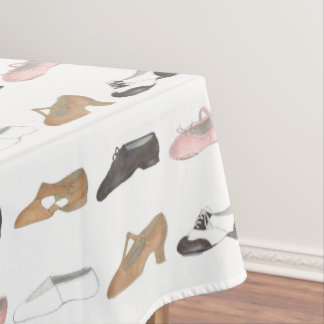 Ballet Tap Jazz Lyrical Dance Shoe Studio Recital Tablecloth