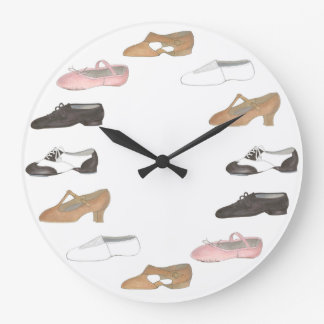Ballet Tap Jazz Lyrical Shoes Dance Studio Clock