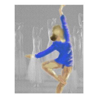 Ballet Turn Art Customized Letterhead