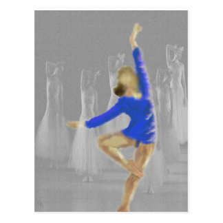 Ballet Turn Art Postcard