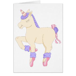 Ballet Unicorn Card