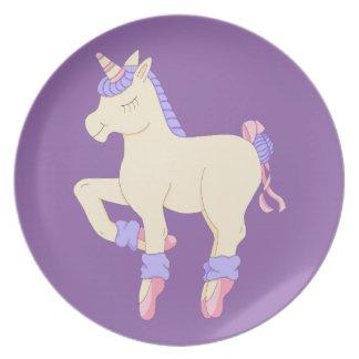 Ballet Unicorn Plate