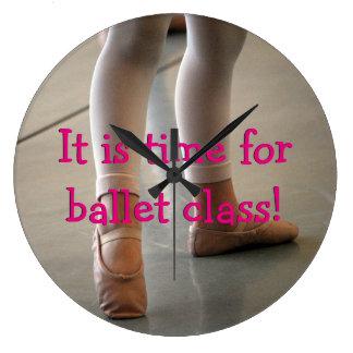 BALLET WALL CLOCK, BALLET CLASS TIME LARGE CLOCK