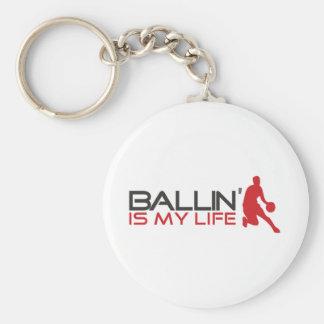 Ballin' is my Life Streetball Keychain