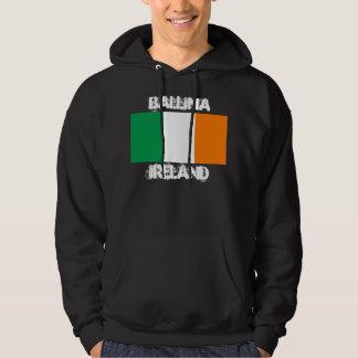 Ballina, Ireland with Irish flag Hoodie