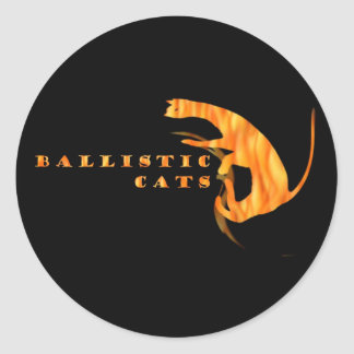 Ballistic Cats Drum Sticker