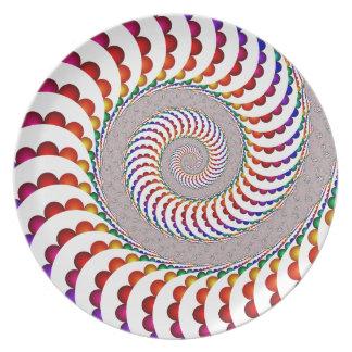 Ballistic Spiral Melamine Plate