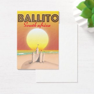 Ballito South african travel poster Business Card