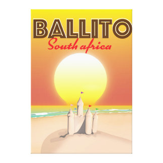 Ballito South african travel poster Canvas Print